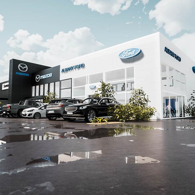 ford mazda dealership designed by david tomic architect