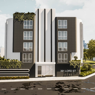 David Tomic Architect Lord Street Perth Apartments side elevation