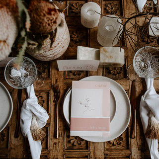 WHY industries table top wedding event hire