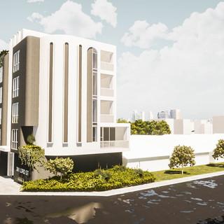 David Tomic Architect Lord Street Perth Apartments street drone view