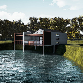 David Tomic Destination architect denmark over the water villa lake view