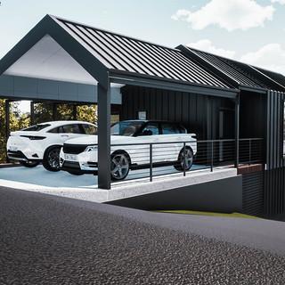 David Tomic Designed AirBnB Accomodation carport
