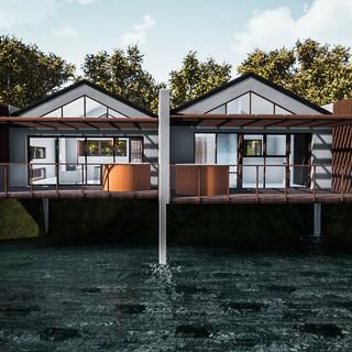 David Tomic Destination architect denmark over the water villa front elevation
