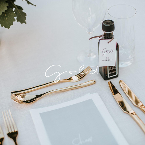 Why industries table top hire for weddings gold cutlery