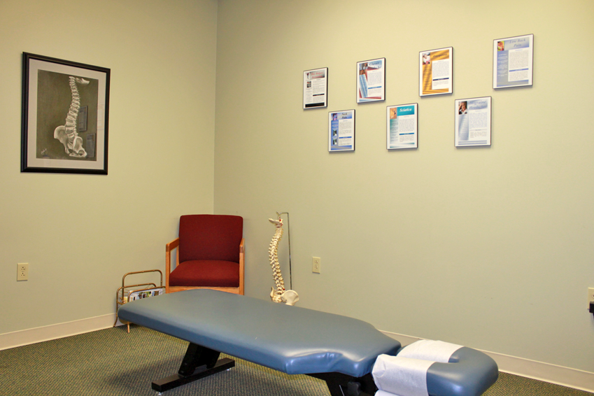 chiropractic patient room