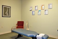 chiropractic patient room