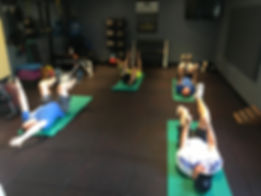 Group fitness class at Comprehensive Chiropractic Training Facility