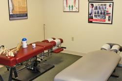 chiropractic exam room