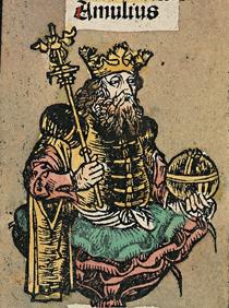 Amulius_Silvius_from_Nuremberg_chronicle