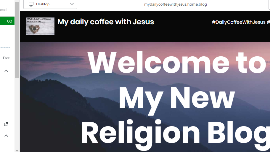 #MyDailyCoffeeWithJesus