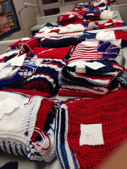 lot's of knitting