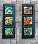 """Two Triptych, $300 each (one on left is sold) 37"""" x 14"""" each"""