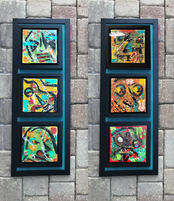 """Two Triptych, $300 each or $500 for both, 37"""" x 14"""" each"""
