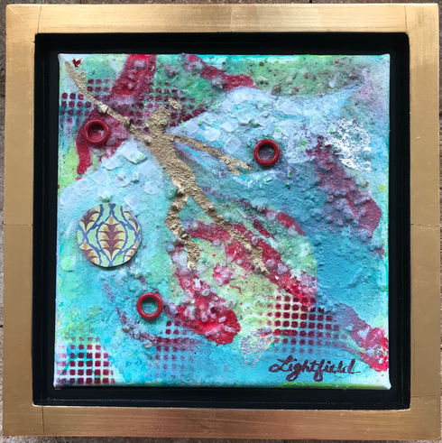 """Soaring Heart, $80, 8"""" x 8""""(10"""" x 10"""" with frame)"""