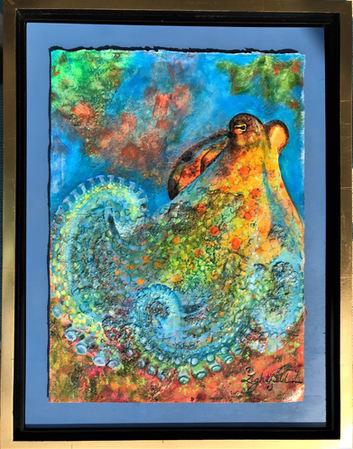 "Observant Octopus,18"" x 24"",Sold"