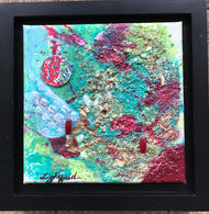 """Reflective Heart, $50, 8"""" x8""""(10"""" x 10"""" with frame)"""