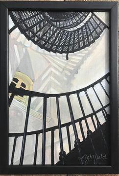 """Spiral Interior, 9"""" x 13"""", $225"""