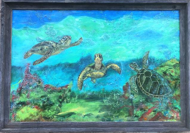 Touring Trio of Turtles, $900