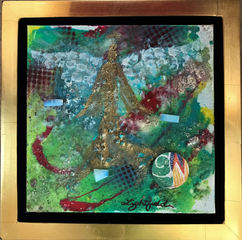 """Foundations of Faith, $125, 8"""" x 8"""", 11.5"""" x 11.5"""" with frame"""