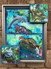 Dolphin and Turtle in 3-D