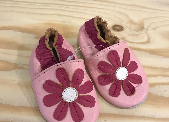 Babyslofje roze 0-6 maanden