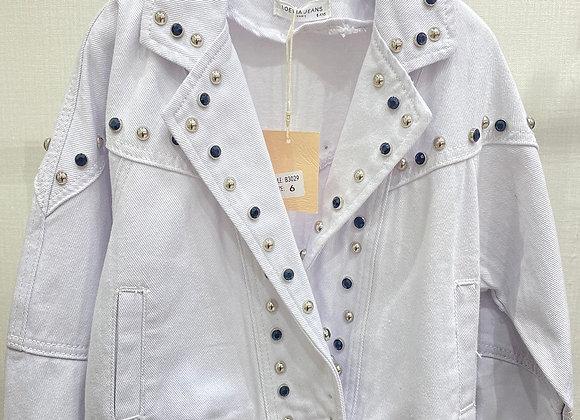 Wit jeansjacket studs