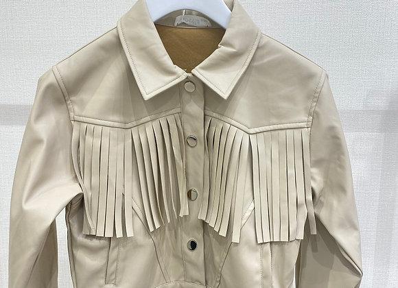 Leren jacket Fringes