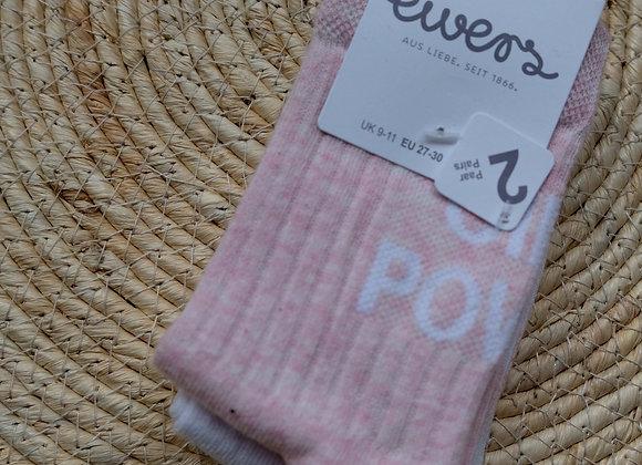 Ewers 2 pack sokken roze