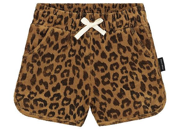 Daily Brat Leopard Towel Short sandstone