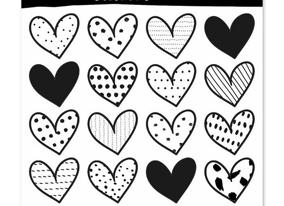 Oh My Goody- Invulboek Stickers Hearts