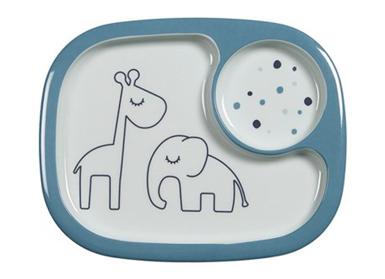 Done by Deer Yummy mini compartment plate, Dreamy dots