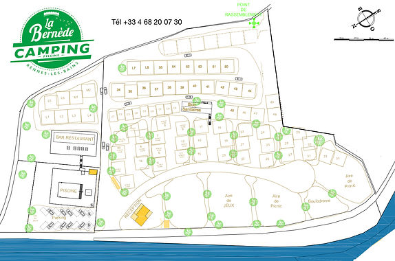 plan camping La Bernède