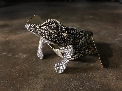Paper Toad Sculpture