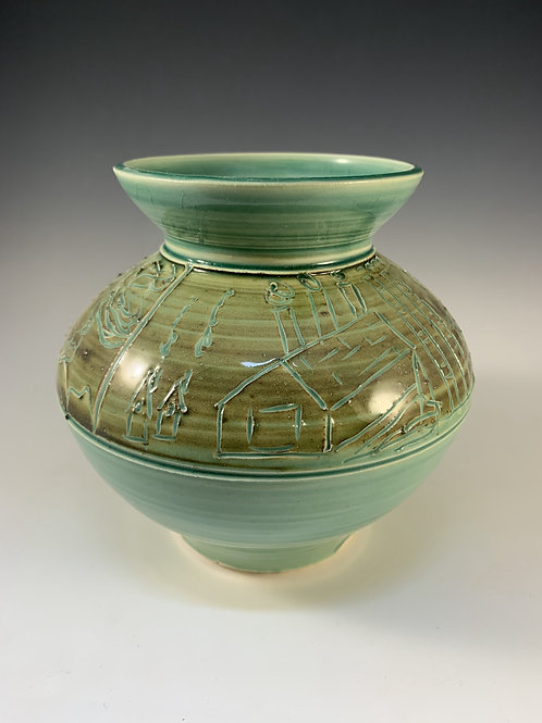 Medium Vase with Landscape