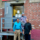 The owners of Khadija's Express Cafe