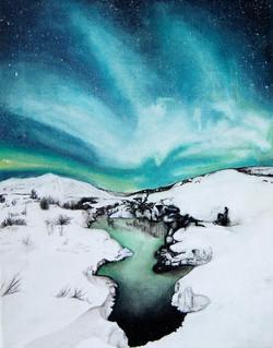 Northern Lights Landscape 2012
