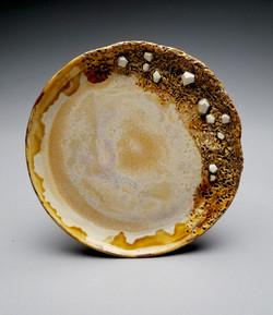 Tan/White Crystal Plate