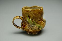 Tan/Green Crystal Mug