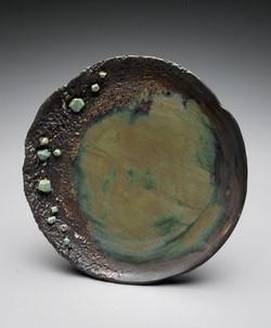Black/Green Crystal Plate