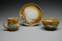 Tan/Blue Crystal Set