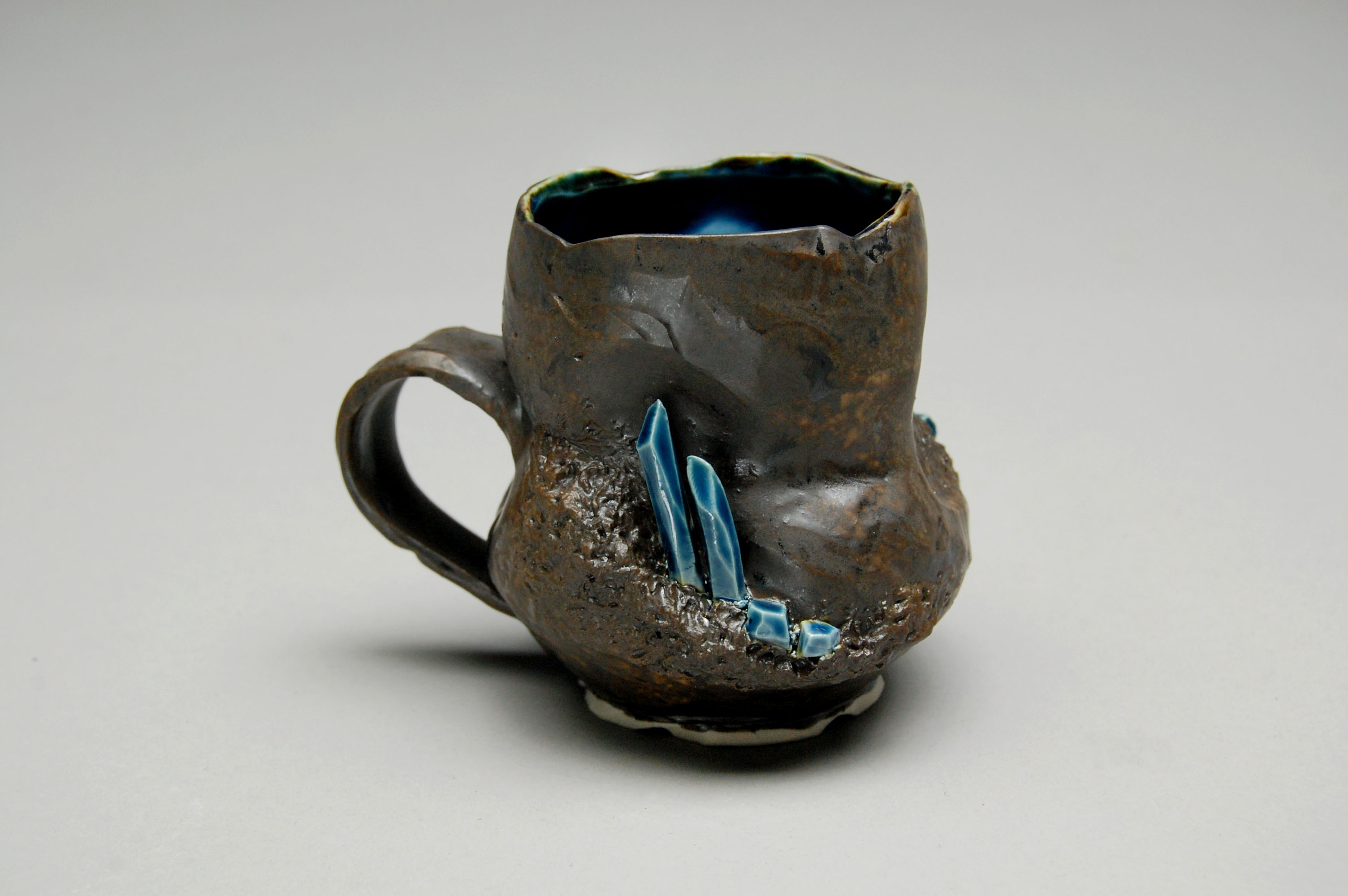 Black/Blue Crystal Mug