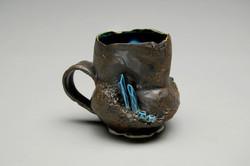 Black/Blue Crystal Mug