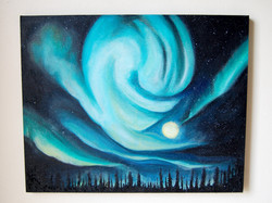 Northern Lights Above Forest 2012