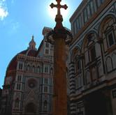Sunlit Cross in Florence