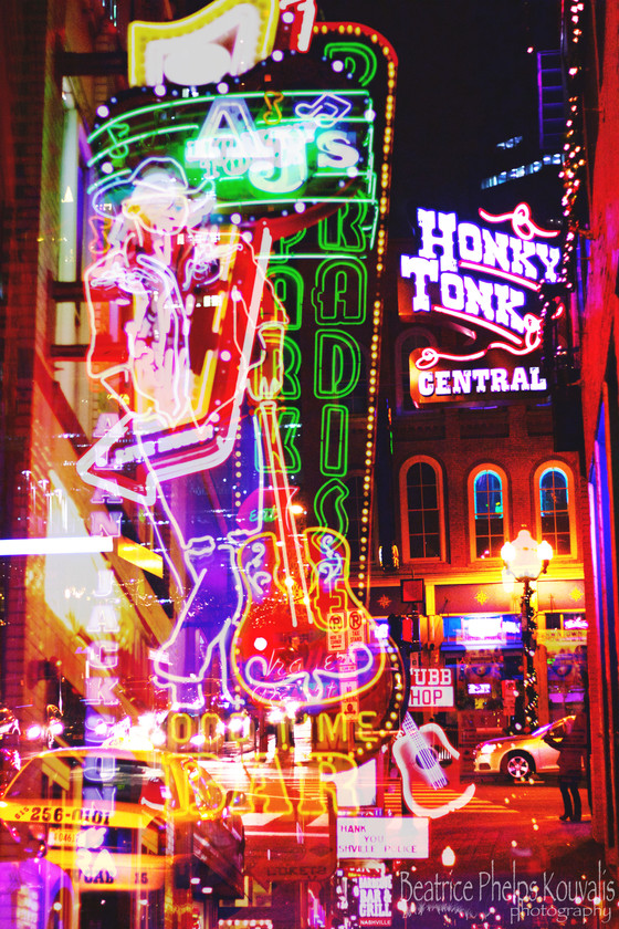 Nashville Night Lights #honkytonktown