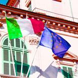 Colorful Italian Flags