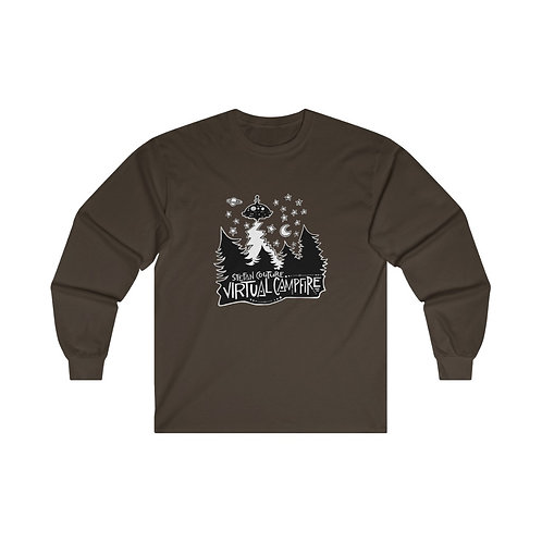 15% OFF Sale!  NEW price: $29.75 Virtual Campfire - Ultra Cotton Long Sleeve Tee