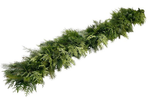 Custom Fresh Cedar_Pine Mixed Garland