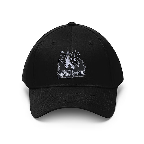 Embroidered Virtual Campfire - Unisex Twill Hat