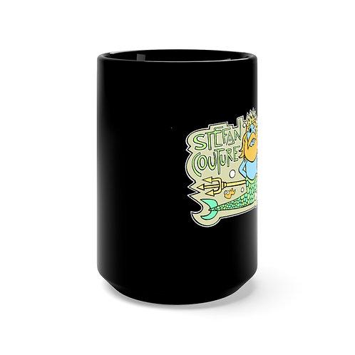 Poseidon Black Mug 15oz